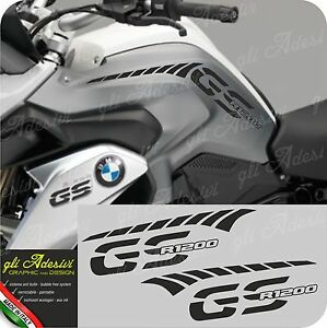 Adaptable Kit Adesivi Fianco Serbatoio Moto Bmw R 1200 Gs Lc Stripes Racing