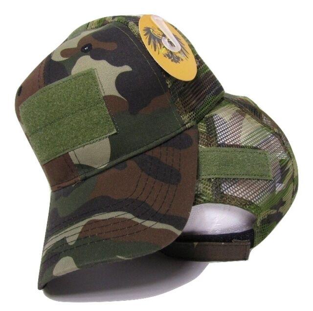 fbf2a7fe39b0a2 Woodland Camo Mesh Operator Operators Tactical Cap Hat Patch adjustable  strap