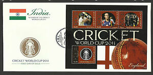 ST-VINCENT-2011-ICC-CRICKET-WORLD-CUP-ENGLAND-TEAM-KEVIN-PIETERSEN-4v-Sheet-FDC