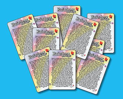 "2 Pet Loss Memorial Verse Cards /""Rainbow Bridge/"" SKU# 977 Poem"