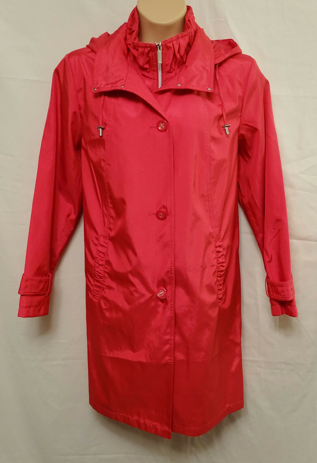 NEW size 2XL  CENTIGRADE HOODED COAT with FOOLER in RED