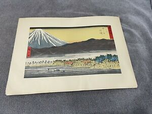 Vintage-Lithograph-Print-After-Hiroshige-Woodblock-Print-Numazu-Mt-Fuji