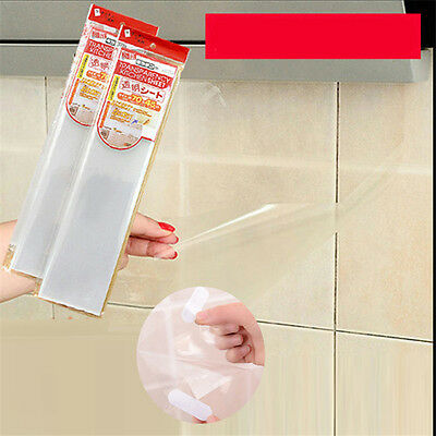 Solid Clear PET Heat resistant Oil Proof Kitchen Tile Wall Stickers Decal Film