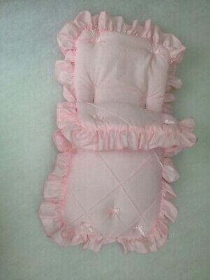 Baby Cosytoes//Footmuff i pink //silver pin tuck