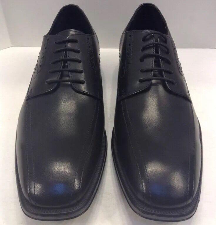 Johnston Murphy birchett escorrentía Lace Up Cuero Negro Hombres 13 M  Nuevo En Caja 20-0705