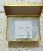 "STERLING Silver 925 3/4"" Hoop Earrings A Great Gift Idea!"