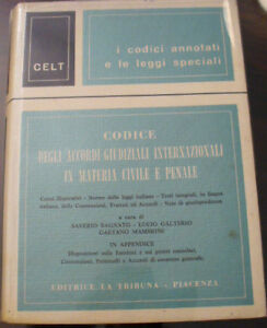 (prl) Antique Book Raro 1968 Libro Antico Vintage Codice Code Accordi Internaz.