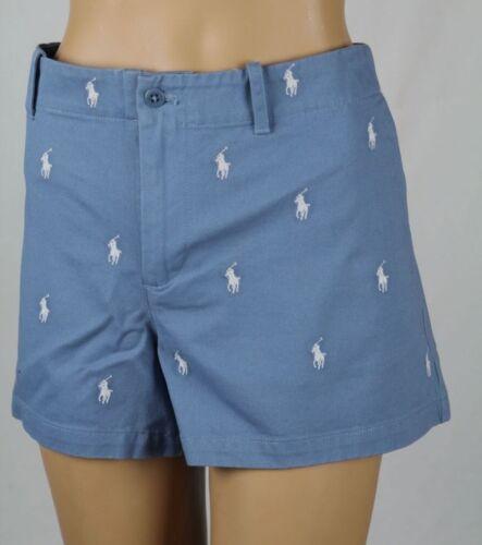 blu Lauren Pony 14 Nwt bianco Ralph Sport Pantaloncini Pony Logo a7RwqRt