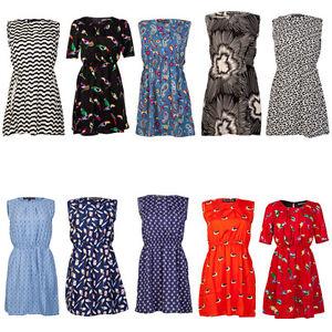 NEW-MELA-LOVES-LONDON-WOMENS-PRINTED-LADIES-SUMMER-SKATER-MINI-DRESS-SIZE-8-14