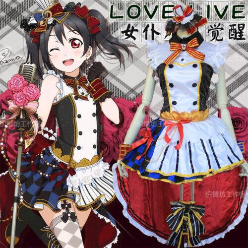 Nico Yazawa Cosplay Lolita Maid Singing Anime Cute Costume Dress New Love Live