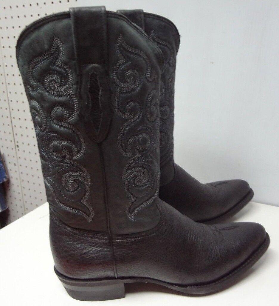 Para Hombre botas de vaquero occidental de Cuero Genuino Original C177