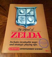 The Legend Of Zelda Nes Box Art Retro Video Game 24 Poster Print Nintendo Link