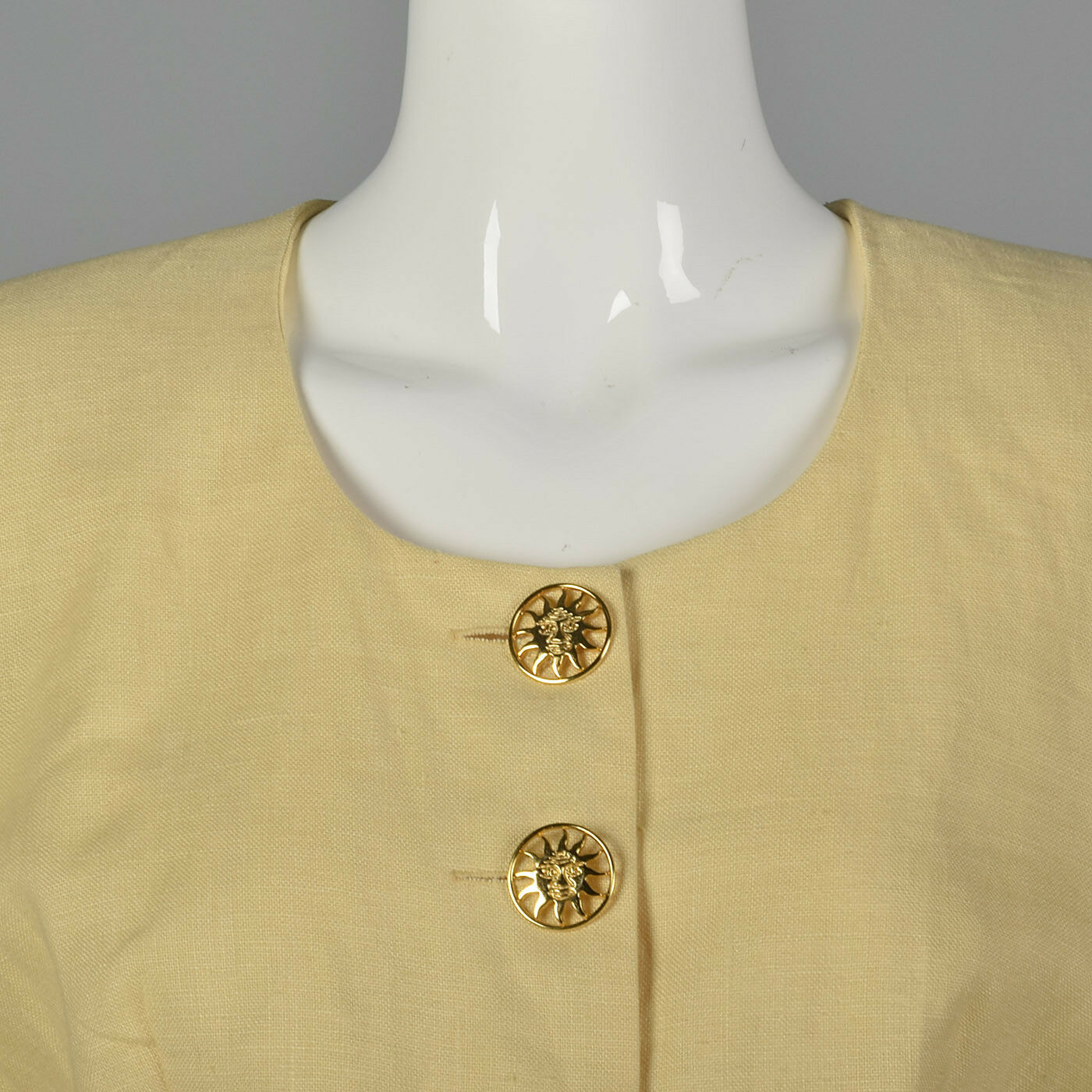 M 1990s Moschino Cheap & Chic Yellow Linen Suit S… - image 5