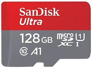 SanDisk Ultra 128GB  Speicherkarte microSDXC+ Adapter bis zu 100MB/Sek. Cla. 10
