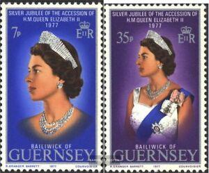 GB-Guernsey-145-146-kompl-Ausg-postfrisch-1977-Koenigin-Elisabeth-II