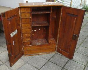Antiker Wandschrank.Details Zu Antiker Wandschrank Werkzeugschrank Schubladenschrank Apothekerschrank Medizin