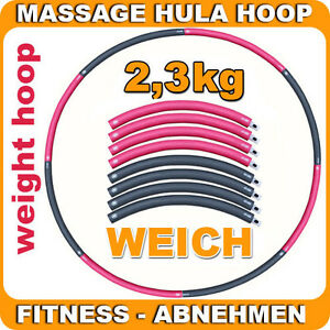 weight hula hoop mit schaumstoff 2 3 kg gymnastik fitness reifen zum abnehmen. Black Bedroom Furniture Sets. Home Design Ideas