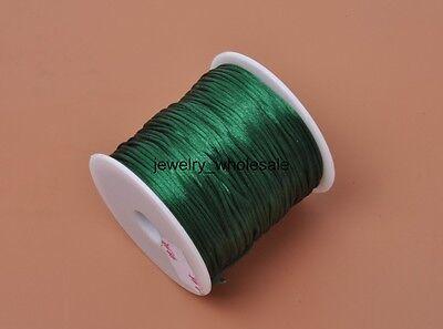 80yards 1MM Satin Rattail Nylon Cords Jewelry Beading Thread 17 Color U Pick