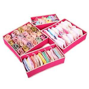 4pcs-Set-Bra-Underwear-Sock-Ties-Drawer-Divider-Closet-Organizer-Storage-Box
