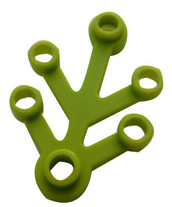 Lego-10-Stueck-Pflanze-in-limette-4x3-2423-Blaetter-lime-Pflanzen-Baum-Baeume-Neu