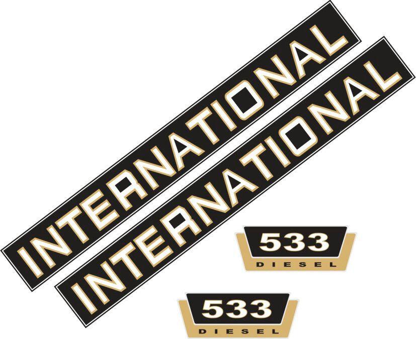 533 Jeu de l'AUTOCOLLANT l'AUTOCOLLANT de AUTOCOLLANT IHC 533 tracteur, remorqueur 2aa6b3