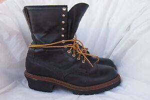 RED-WING-boots-mens-LOGGER-FIREFIGHTER-699-style-sz-11-5-EE-made-USA-vtg-90s