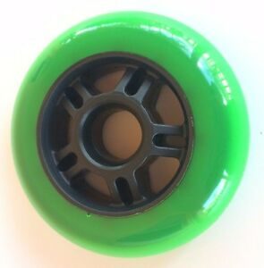 1x 90mm inline rollerblade wheel - koncrete atom k2 fitness speed 86a outdoor