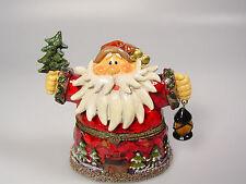Santa Claus Figure trinket box Christmas decoration Cake topper display