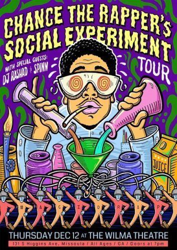 """Chance The Rapper Social Experiment Tour Acid Rap Poster  13x20/"""" 20x30/"""" 24x36"""
