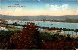 Feldpostkarte-Mainz-Rhein-Panorama-1918-Feldpost-1-Weltkrieg-n-Forst-Lausitz