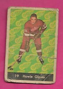 1961-62-PARKHURST-19-WINGS-HOWIE-GLOVER-ROOKIE-CREASED-CARD-INV-C3120