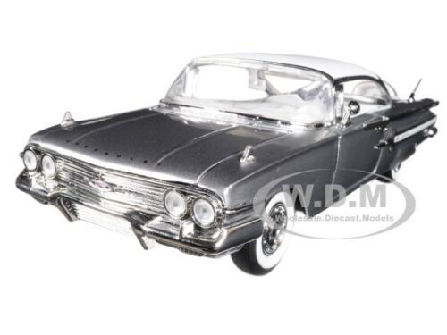1960 CHEVROLET IMPALA SILVER SHOWROOM FLOOR 1/24 DIECAST MODEL CAR JADA 98902