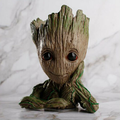 Guardians of Galaxy Baby Groot Planter Tree Man Flower Pot Pen Holder Kids Gift
