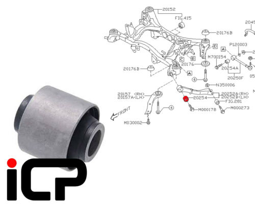 Subaru Impreza 07-14 WRX STi 330S Genuine Trailing Arm Bush Fits