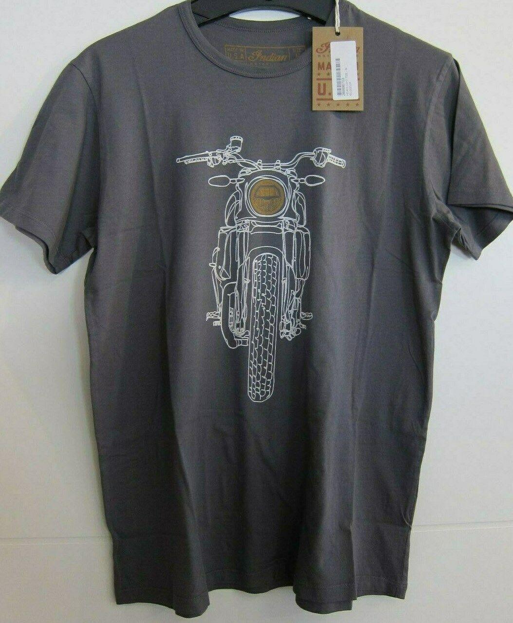 Indian Motorcycle Shirt T-Shirt grau Indian Scout Bobber NEW  286896703 Größe M