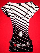 H&M SHIRT RoCKaBiLLY ROMANTIK BoHo BLOGGER STREIFEN  M 38 40  NEUW.!! TOP!!