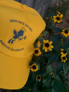 BRING-BACK-THE-BEES-Yellow-Baseball-Style-Hat-Adult-One-Size-English-and-French