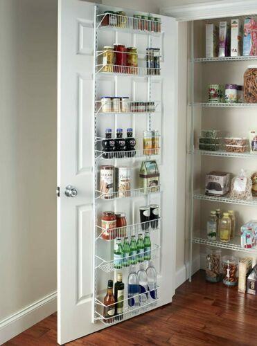 Over The Door Storage Rack Adjustable 8 Shelves Kitchen Pantry Organizer Holder