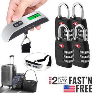 4xTSA-Approve-Combination-Travel-Luggage-Suitcase-Bag-Lock-Hanging-Scale-Weight