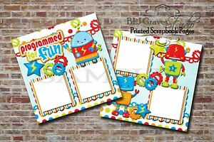 Robots-Programmed-For-Fun-2-PRINTED-Premade-Scrapbook-Pages-BLJgraves-39