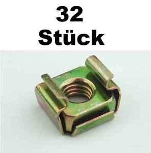 32 X Käfigmuttern M6 Für Stahl Rackschiene Käfigmutter Cagenuts Adam Hall 5651 Dj Equipment Cases, Racks & Bags