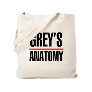 f5a88a7e007 Details about CafePress Greys Anatomy Natural Canvas Tote Bag, Cloth  Shopping Bag (721928946)