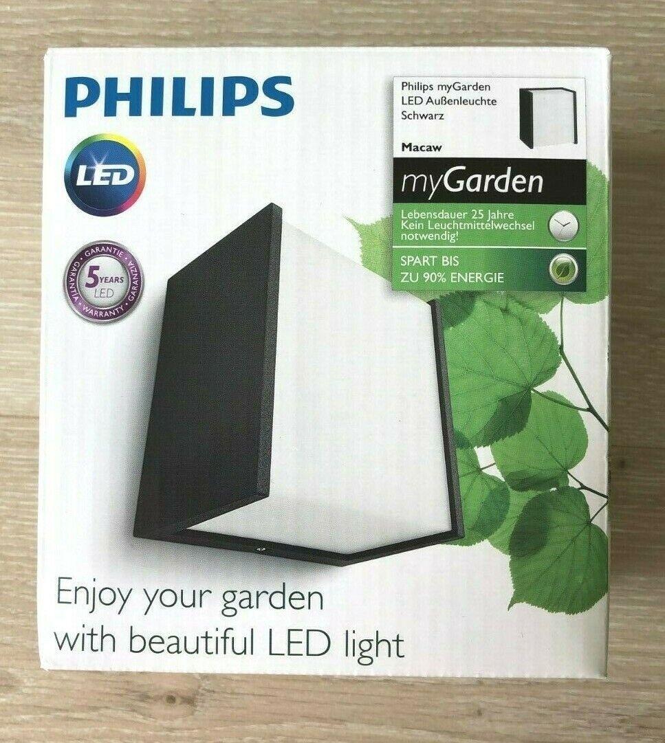 Philips Led Wandleuchte außen /'Macaw/' Außenleuchte Kunststoff Modern A+