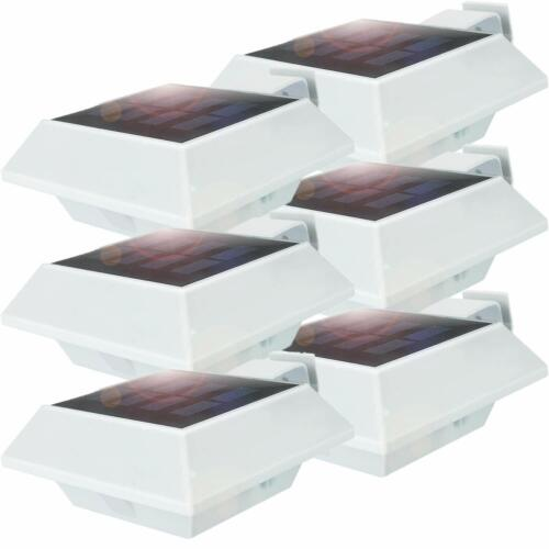 12SMD-LEDs,Tageslichtsensor,Strahler 6Stk.Solarleuchte LED-Dachrinnenleuchte