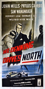 MR-DENNING-DRIVES-NORTH-1952-John-Mills-Phyllis-Calvert-ROLLS-ROYCE-UK-3-SHEET