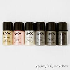 "6 NYX Loose Pearl Eyeshadow Pigment Set ""Smokey""  *Joy's cosmetics*"