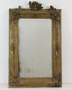 800 39 magnifica rara specchiera dorata e lavorata specchio al mercurio originale ebay - Specchio al mercurio ...