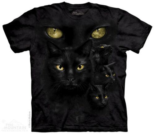 The Mountain Black Cat Moon Eyes T Shirt Katze Cat Mieze Tee #3218 628