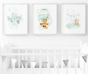 Car And Plane Baby Room Wall Art
