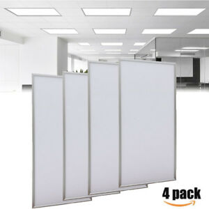 Details about 4X Rectangle 2x4FT 72W LED Troffer Panel Light Recessed  Dropped Ceiling Fixture